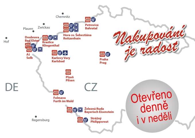 mapa obchodů Free One Shop